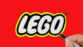 How to Draw Lego Logo   Easy Logo Drawing