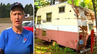 When This Pizza Delivery Driver Looked Inside A Customer's Trailer, She Knew She Had To Act Fast