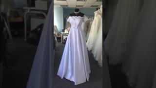Белое свадебное платье для беременных