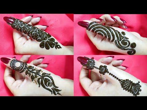 4 DIY Thumb mehendi designs | Beautiful stylish Side thumb henna design trending