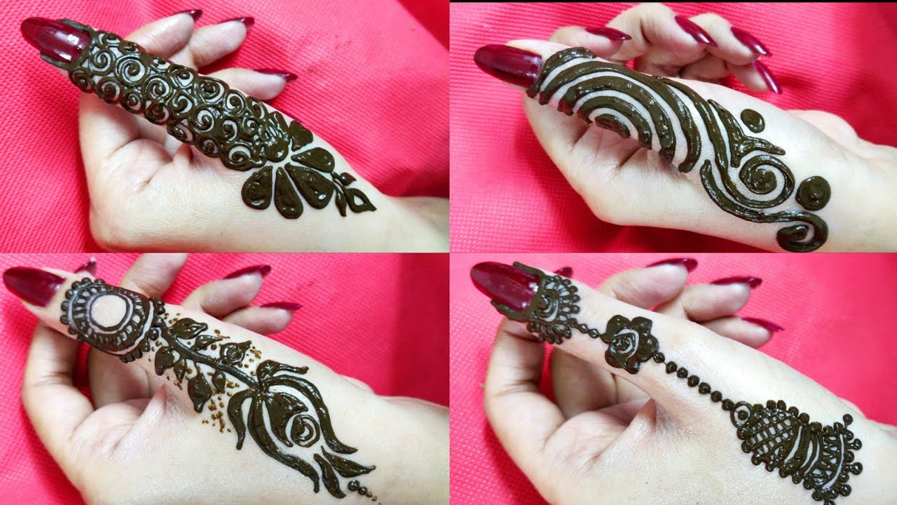 thumb mehndi design easy