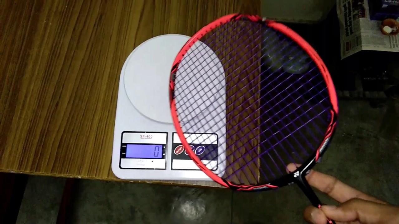 Yonex voltric 10 dg (weight test) - YouTube 70b5ece958293