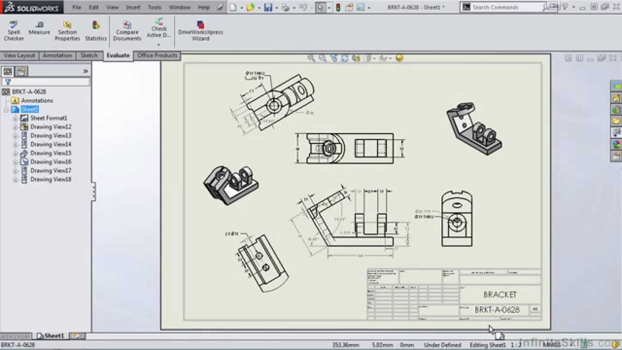 Solidworks 2014 tutorial the drawing environment youtube for Solidworks drawing template tutorial