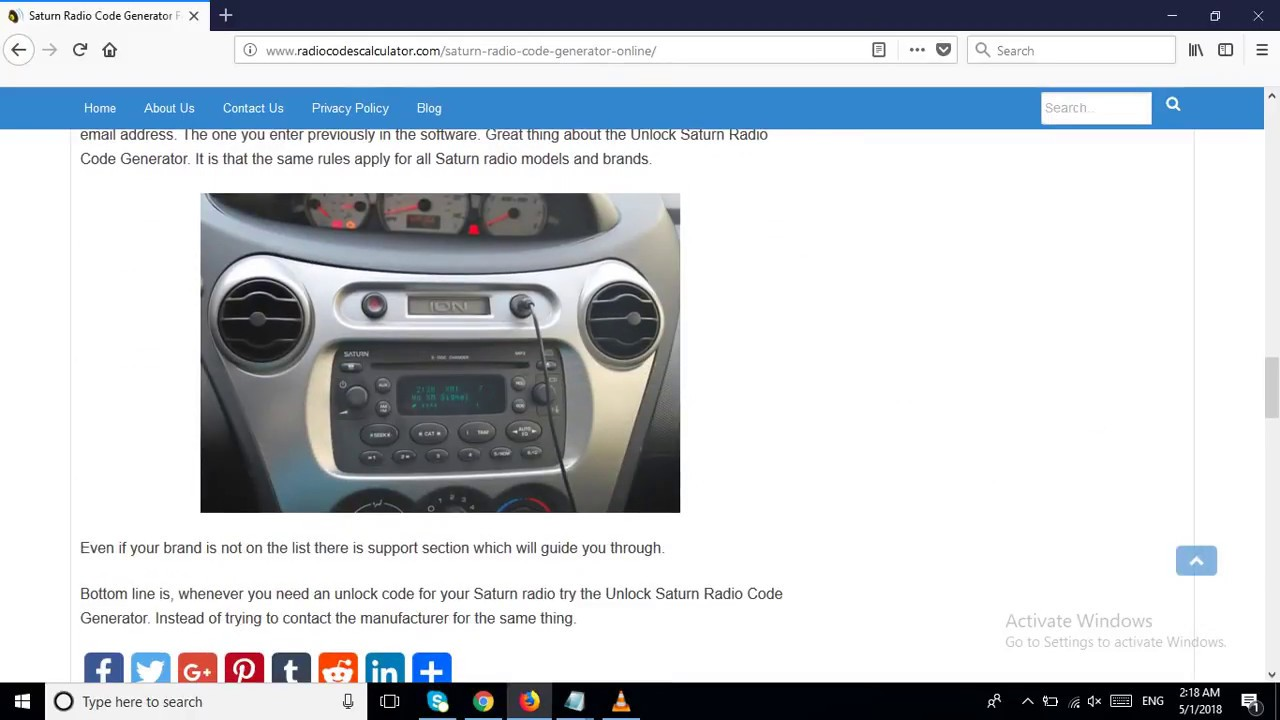 Saturn Radio Code Generator For Online Unlock Car Devices