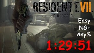 Resident Evil 7 NG+ Any% Easy 1:29:51 (PB)