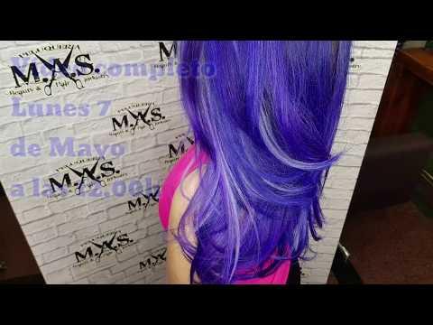 Blue & Purple Balayage Hair Tutorial. Fantasy magenta hair.
