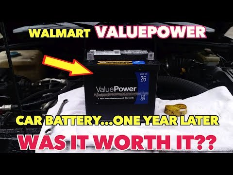 Walmart ValuePOWER Auto Battery   One year Later   Is it