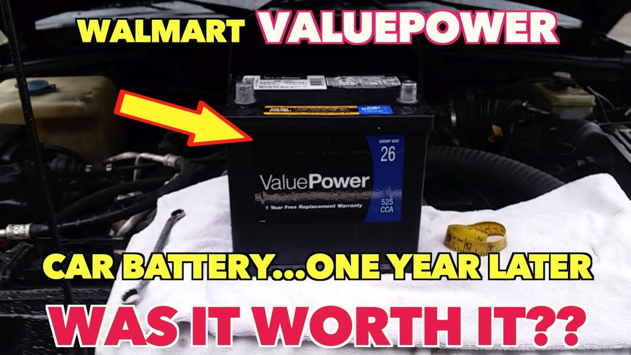 Walmart ValuePOWER Auto Battery   One year Later   Is it Worth it?? Find  Out!