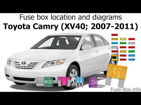 2007 toyota camry fuse box layout fuse box location and diagrams toyota camry  xv40  2007 2011  toyota camry  xv40  2007 2011
