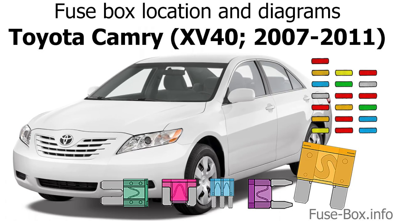 [CSDW_4250]   Fuse box location and diagrams: Toyota Camry (XV40; 2007-2011) - YouTube | 2007 Toyota Corolla Fuse Panel Diagram |  | YouTube