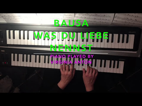 BAUSA *Was du Liebe nennst* Piano Cover