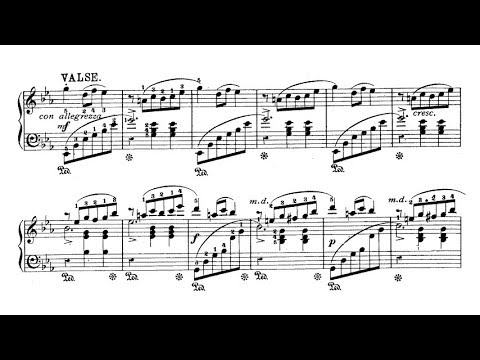 Leopold Godowsky - Valse-Scherzo (audio + sheet music)