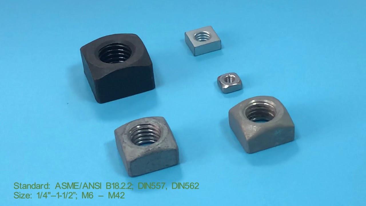 Carbon Steel Black oxide square nut- China factory JM