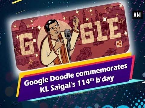 Google Doodle commemorates KL Saigal's 114th b'day - ANI News