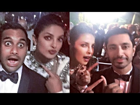 Priyanka Chopra Chills With Emmys 2017 Winners Riz Ahmed And Aziz Ansari