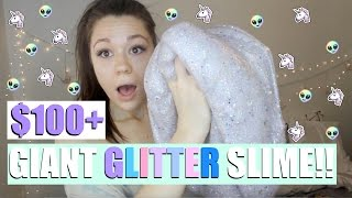 DIY GIANT GLITTER SLIME!! - $100+ slime OMG!
