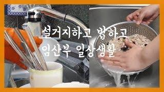 8개월 임산부 브이로그/설거지+압력밥솥 밥 하기 /대충…