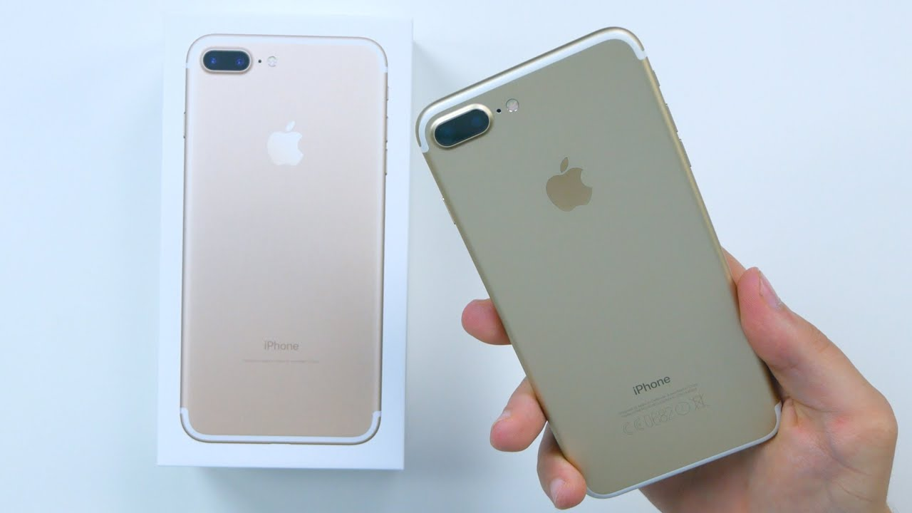 apple iphone 7 plus gold unboxing erster eindruck. Black Bedroom Furniture Sets. Home Design Ideas