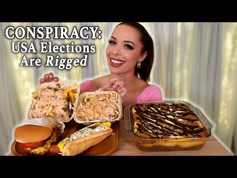 cookie-dough-cheesecake-&-animal-style-fries,-hot-dog,-burger-mukbang