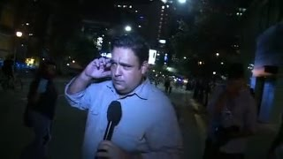 CNN reporter hit by protester, knocked over