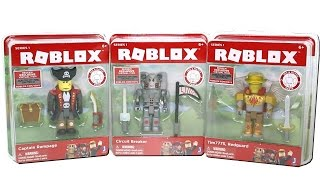 Roblox Series 1 Core Packs Unboxing Toy Review with Captain Rampage, Circuit Breaker and Tim7775