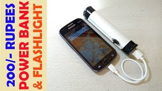 Awesome Idea make power bank with flashlight