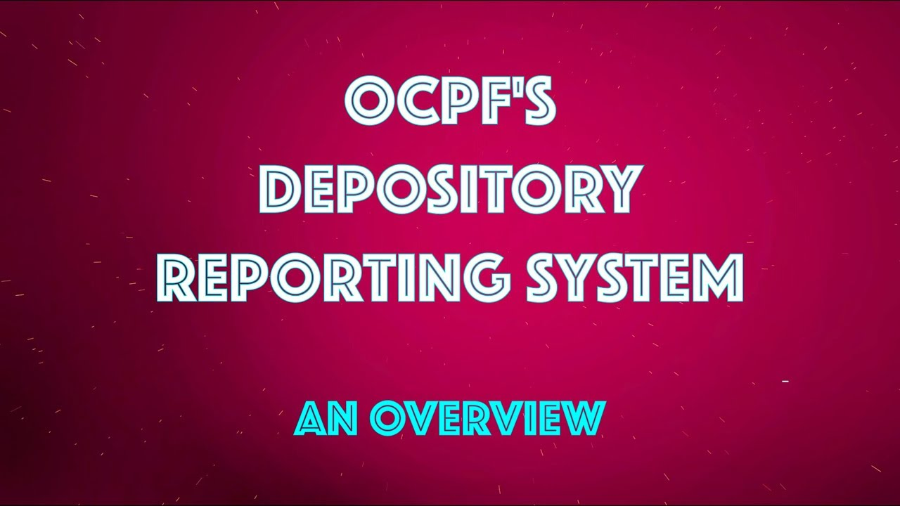 OCPF - Welcome to the OCPF Home Page