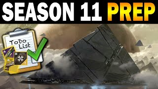 Destiny 2: Last Minute Season 11 Prep Guide!
