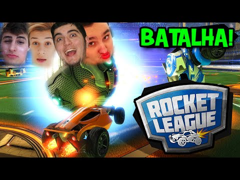 QUEM É MAIS NOOB?! REZENDE E VILHENA VS. KAZZIO E WOLFF!! - Rocket League