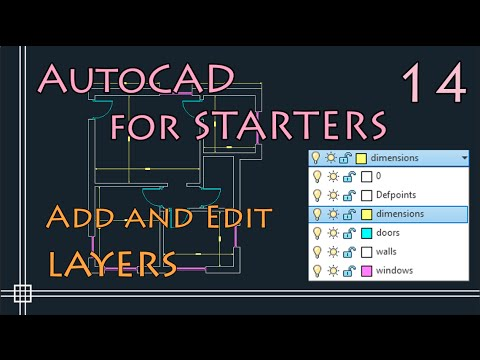 AutoCAD For Begineers - Add And Edit LAYERS (change Colour, Linetype, Lineweight...)