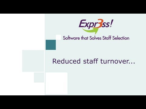 Reduced staff turnover...