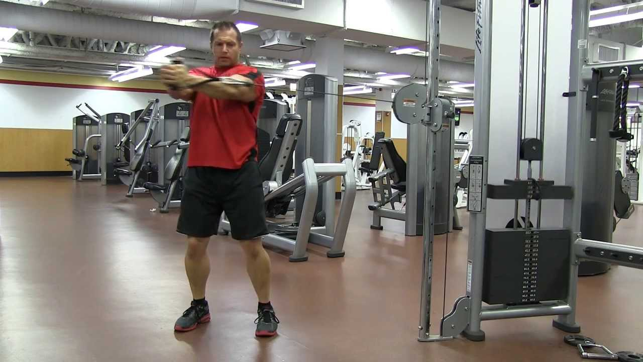 Standing Cable Oblique Rotation - YouTube Oblique Exercises Cable