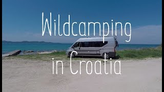 Amazing FREE camping spots in Croatian coast and also our van got hit by a brick wall :(
