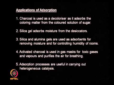 Mod-01 Lec-12 Adsorption