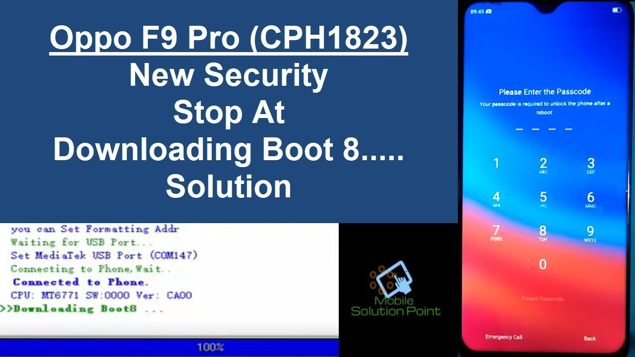 Oppo F9 Pro (CPH1823) Password & FRP Lock New Security Solution Via Test  Point Method (Miracle Box)