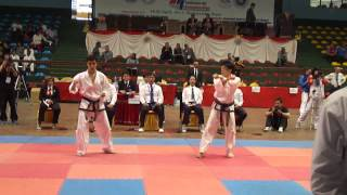 7th Asian Tkd Championships in Nepa Senior Male Pattern 1st dan Tkm VS Jap 中川友太 2回戦2