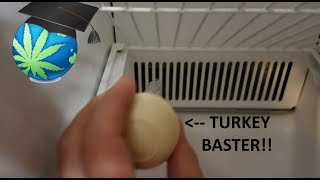 Fix A Clogged Fridge Defrost Drain WITHOUT Opening Panels - How To