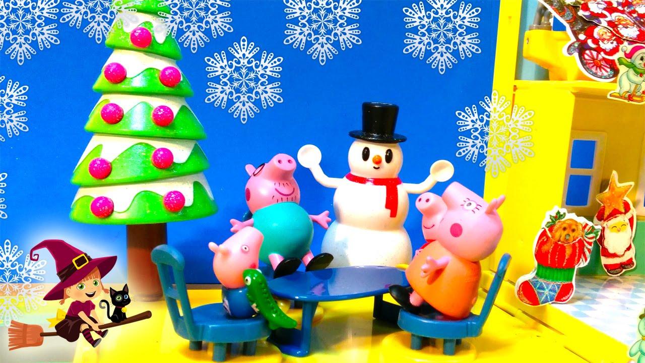 La Fiesta De Navidad En La Casa De Peppa Pig Papa Noel Youtube