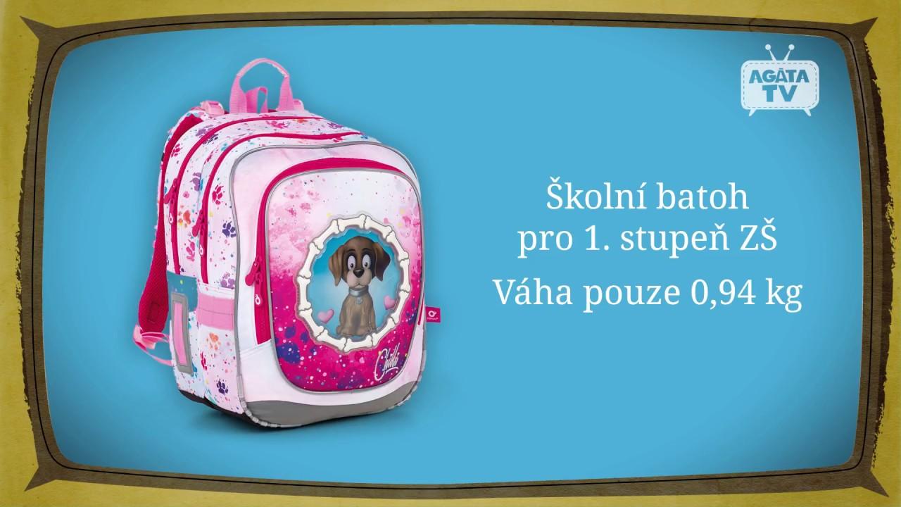 50122c424cb Agátin svět  Školní batoh s vyměnitelnými obrázky Topgal ENDY 18017 ...
