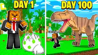 I Survived 100 Days In Jurrasicraft Minecraft (Here's What Happened)
