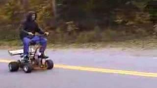 Barstool Fool doing wheelie