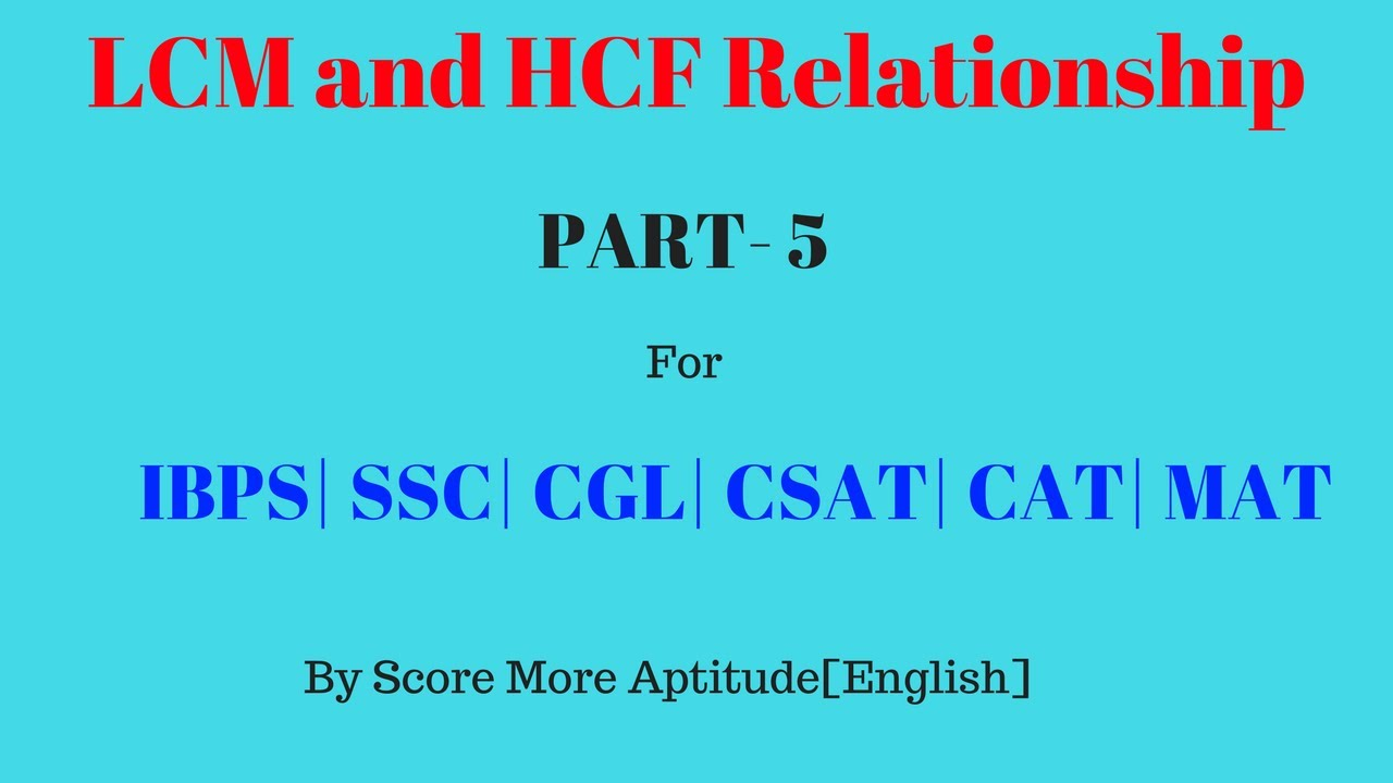 hcf and lcm relationship