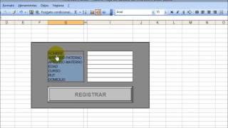 como hacer un formulario para ingresar datos en una hoja de calculo de excel
