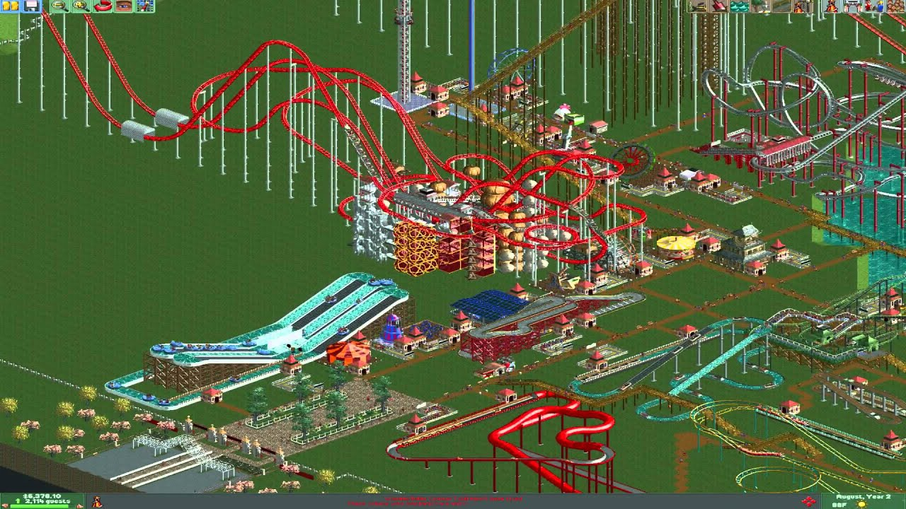 After discovering money cheat - Roller Coaster Tycoon 2