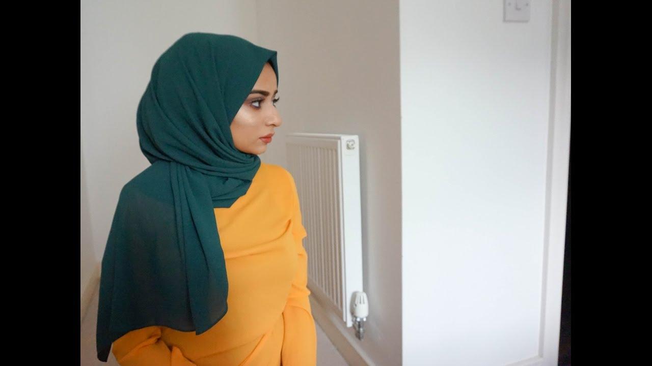 3 Hijab Tutorial Using A Crinkled Hijab Youtube