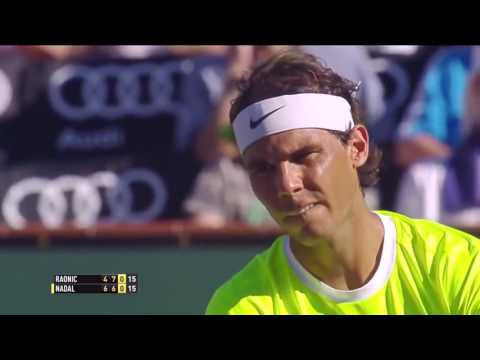 Rafael Nadal v. Milos Raonic | Indian Wells 2015 QF Highlights HD