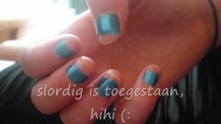 Short Nail tutorial - inspired by Mermaids  (dutch)