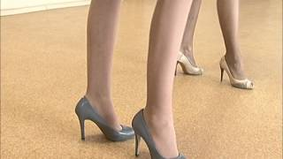 видео как научиться ходить на каблуках
