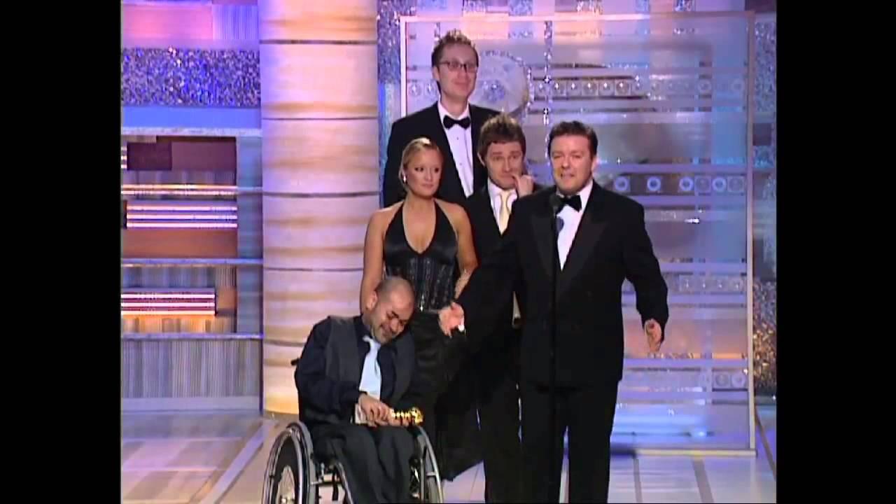 Ricky Gervais e il cast di The Office ai Golden Globe 2004 sub ita