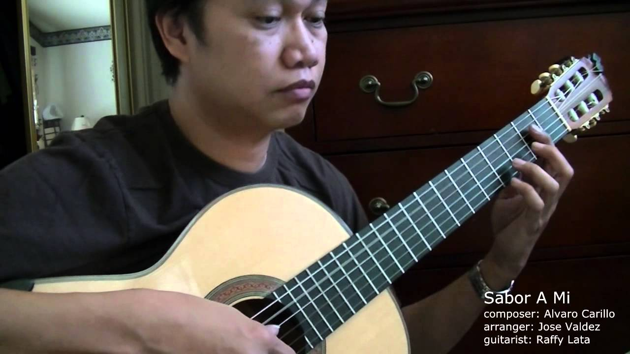 How to play sabor a mi on guitar